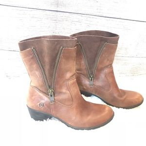 Born - double zippered leather boots in size 10